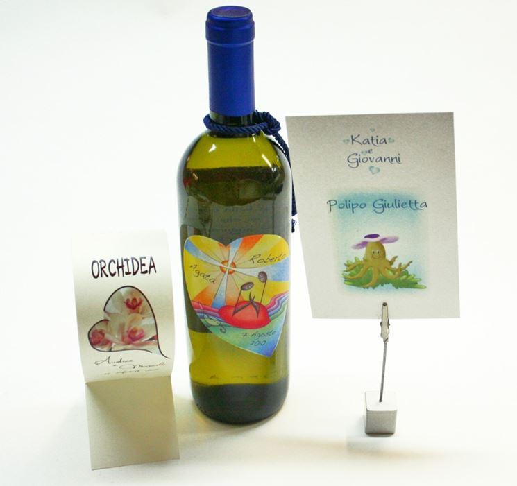 Etichetta per vino per matrimonio
