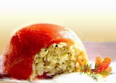 riso e salmone