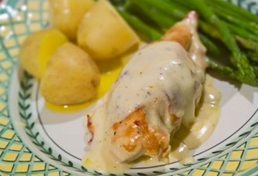 pollo al vino e patate