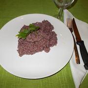 risotto con vino rosso