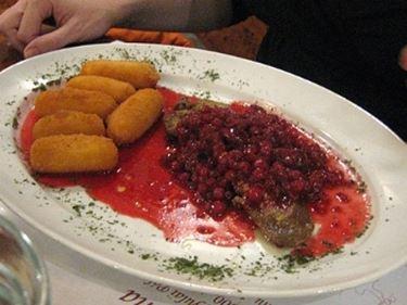 salsa vino rosso e frutti di bosco