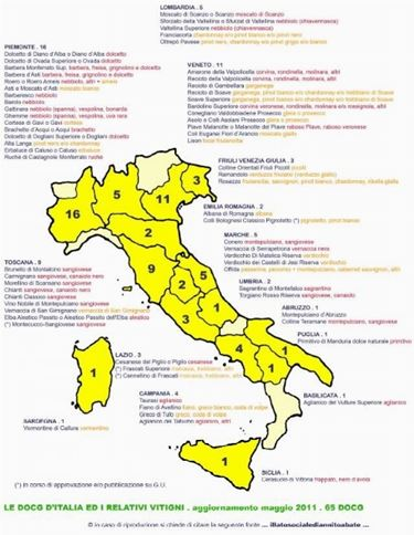 la mappa DOCG