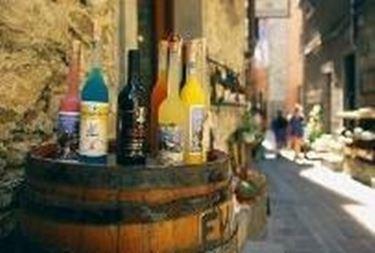 I tanti vini della zona
