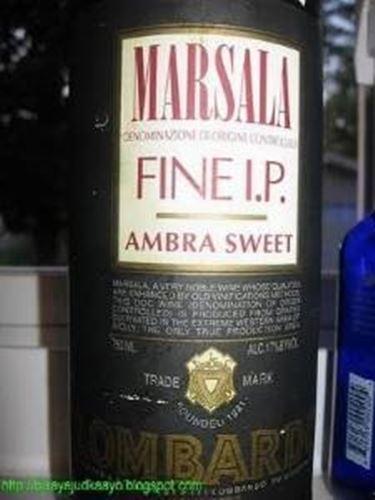 L'etichetta del Marsala Ambra