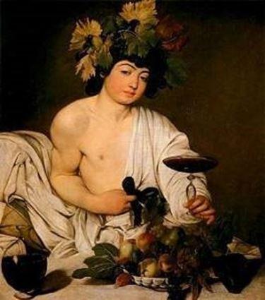 Il dio Bacco visto dal Caravaggio