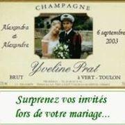 Potete personalizzare il vostro compleanno o matrimonio con una foto in etichetta