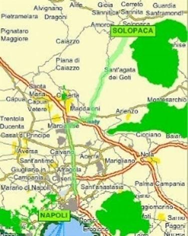 L'area di produzione sulla mappa