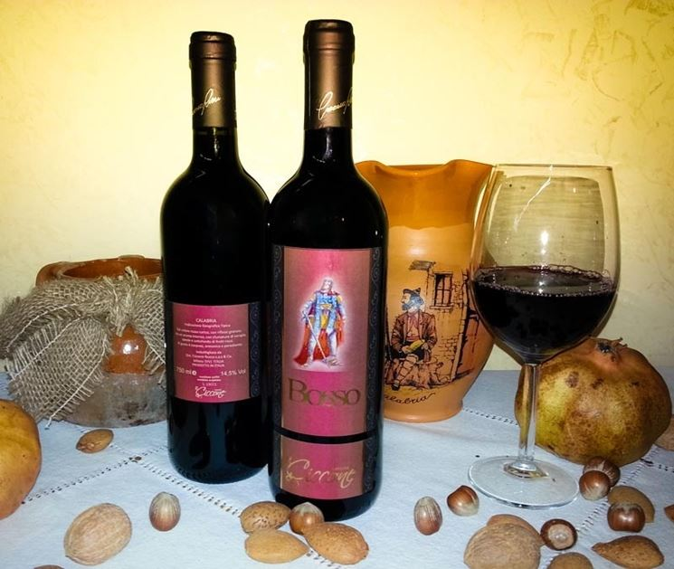 Il <strong>vino calabrese</strong> rosso Bosso