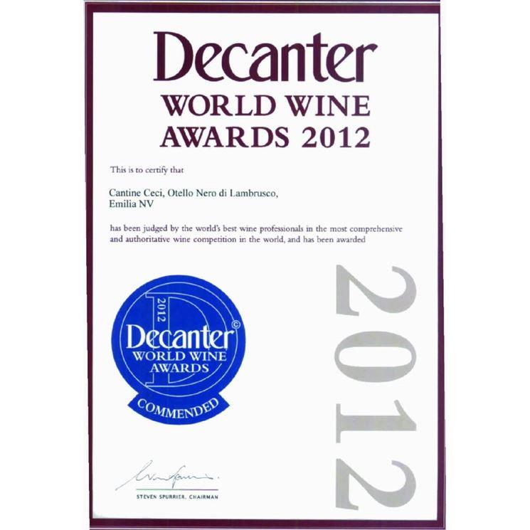 Premio conferito al Decanter 2012