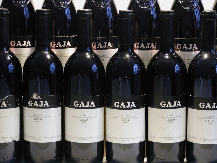 Bottiglie di vino Gaja