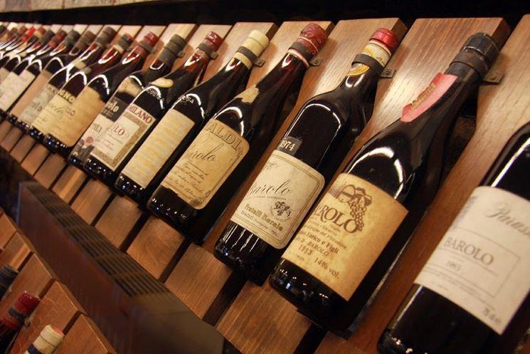 Bottiglie di Barolo