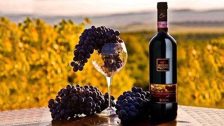 Una bottiglia di brunello di Montalcino