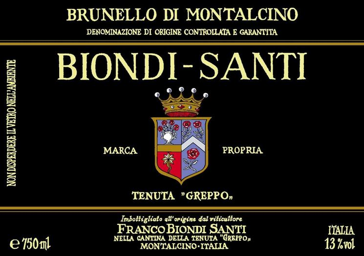 Un brunello di Montalcino Biondi Santi