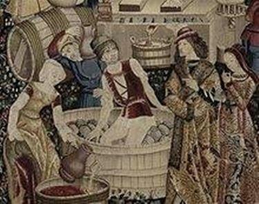 La vinificazione nel medioevo