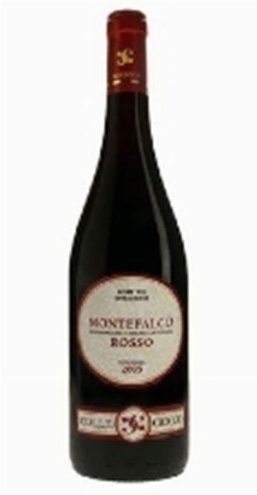 una bottiglia di Montefalco Rosso