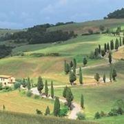 le dolci colline intorno a Orvieto
